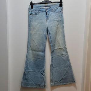 12' flared denim, seven jeans , size 26